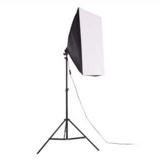 Single Socket Softbox + 2m Light Stand + 175W Bulb Studio Photography Kit