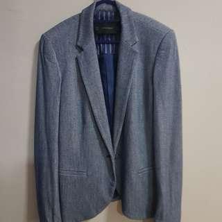 Zara basic blazer, Blue, good for job interviews, EU S, $30