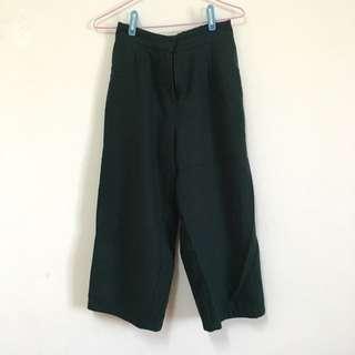 韓貨寬褲-綠