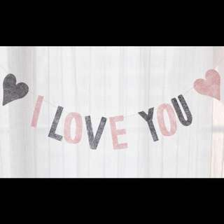 'I-Love-You' Bunting