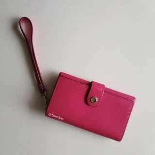 Authentic Coach Crossgrain Leather Phone Clutch Wristlet F53311