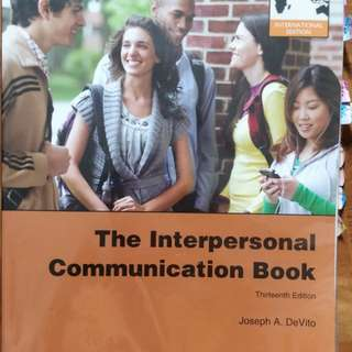 GET1032 The interpersonal communication book