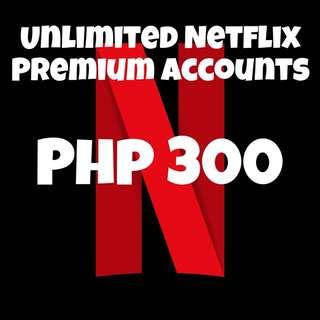 Unlimited Netflix Premium Accounts