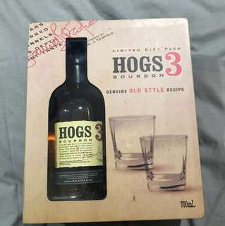 Hogs 3 bourbon box set