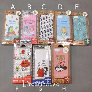 日本帶回 小美人魚 雙子星 米奇 愛麗絲 玩具總動員 史努比 查理布朗 米妮 全包式 Iphone7 8 x 手機 軟殼