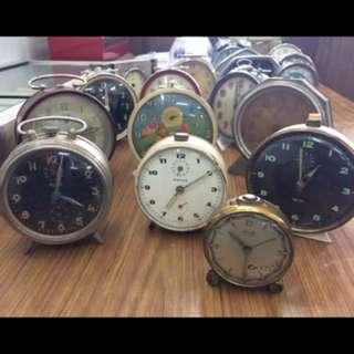 Vintage alarm table clock..