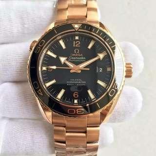 omega海馬系列海洋宇宙 黑色盤面陶瓷圈口全玫瑰金配色⭐️⭐️ big_boss錶業 誠信經營🎱