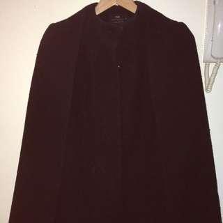 Cue Size 8 Wool Cape Jacket