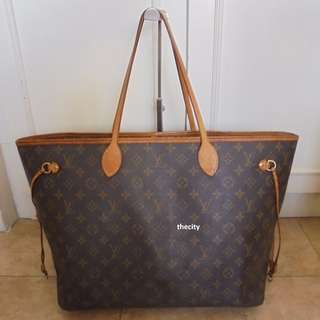 "AUTHENTIC LOUIS VUITTON NEVERFULL IN MONOGRAM CANVAS -  ""GM' SIZE"