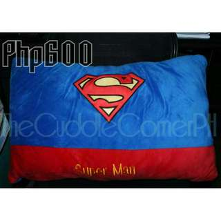 Valentines Sale! CHARACTER PILLOWS: Superman, Spiderman, Batman