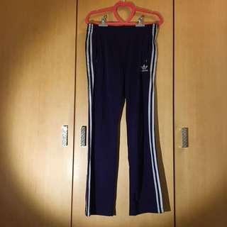 Adidas 紫色長運動褲
