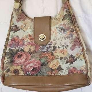 Flora Vintage Sling Bag (long Adjustable Strap)