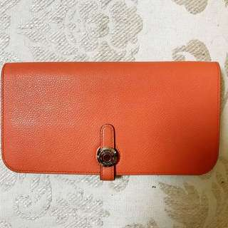 Hermes lady's wallet dogon recto-verso