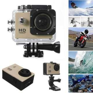Full HD 1080 HD Sport Go Pro Like Camera - Gold NEW