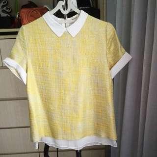 Maje (merk Perancis) Gold Thread Silk Blend Shirt