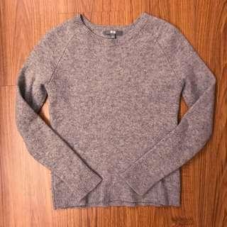 UNIQLO 毛衣 灰色 L號 女生