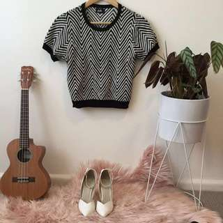 60's style sweater t shirt striped