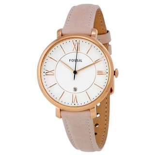 Fossil ES3988 Jacqueline Date Leather Watch for Women - COD - FREE SHIPPING