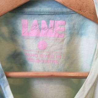 Flavour lane tie dye cropped t shirt