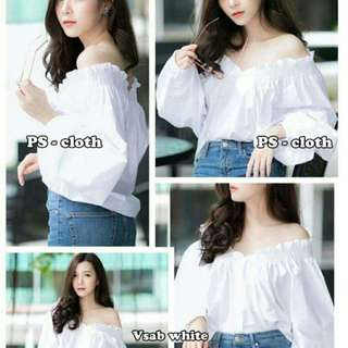Baju Sabrina Vsab White Fit To XL
