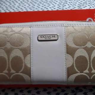 Authentic Coach Canvass Wallet