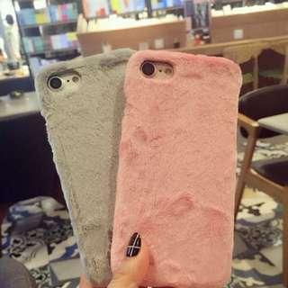 iPhone 8 plus/ iPhone 7 Plus hard fluffy furry phone case