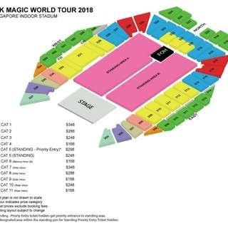 2 x CAT 5 PRIORITY Tickets 7 May 2018 Bruno Mars 24K Magic World Tour