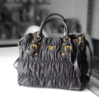 Authentic Prada Black Nylon Gaufre BN1788