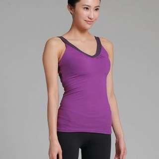 Namaste 美背型上衣 紫色 S號 9成新