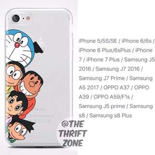 Doraemon Soft Tpu Printed Case For Iphone/Samsung/Oppo