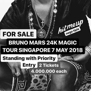 BRUNO MARS SINGAPORE 7 MAY 2018 STANDING PRIORITY