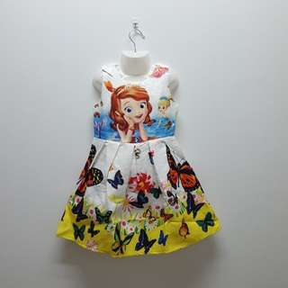 SOFIA THE FIRST DRESS - WHITE