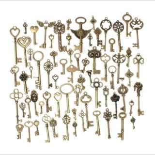 BN 70pcs Key Pendant Assorted DIY Handmade Accessories Collection
