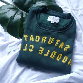 Saturday Noodle Club - Green Sweater