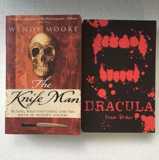 Bundle 2 books Dracula and The Knife Man