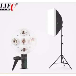 50* 70cm Softbox 4 Bulb Adapter + 2m Light Stand Studio Photography