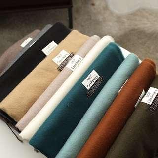 質感超好 柔軟舒服多色純色圍巾 大條