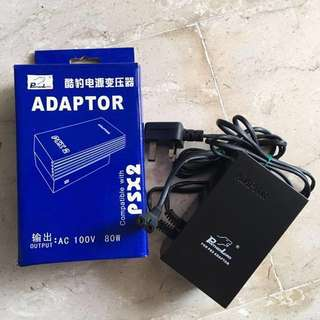 PS1 or PS2 Slim Only Adaptor AC 100w 80w / 8v