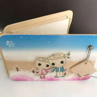 Wooden Scrapbook with music