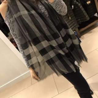全新!英國代購 Burberry scarf wool x silk 絲巾頸巾