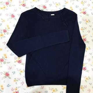 H&M Dark Blue Knitted Long Sleeves in xs