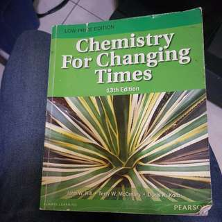 Chemistry For Changing Times  13th Edition