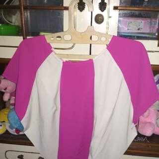 Blouse pink white