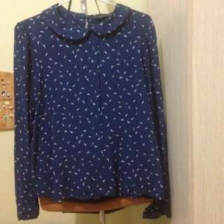 Zara Blouse Navy
