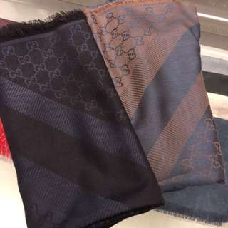 Gucci 大圍巾 頸巾 披肩 scarf