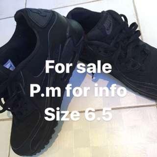Nike airmax 90 triple black leather