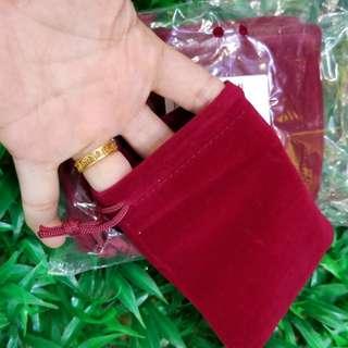 絲絨袋。索繩袋。飾物袋,10元有5個