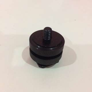 Hot Shoe Mount 1/4' Screw For DSLR Camera