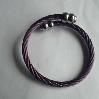 Charriol inspired violet and silver bracelet