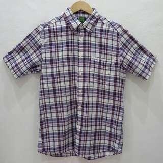 Uniqlo tartan top/shirt